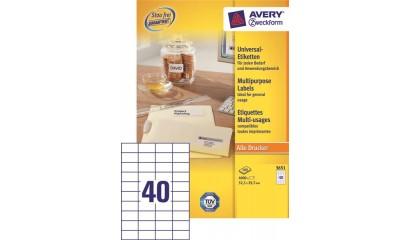 Etykiety samop. ZF Avery 52.5x29.7 (100ark.) 3651