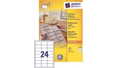Etykiety samop. ZF Avery 64.6x33.8 (100ark.) 3658