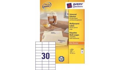 Etykiety samop. ZF Avery 70x29.7 (100ark.) 3489