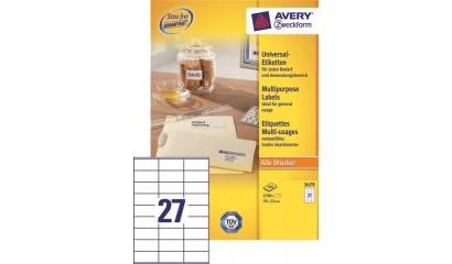 Etykiety samop. ZF Avery 70x32 (100ark.) 3479