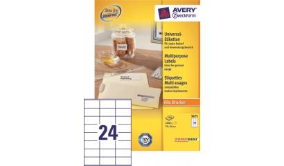 Etykiety samop. ZF Avery 70x36 (100ark.) 3475