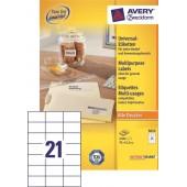 Etykiety samoprzylepne ZF Avery 70x42.3 (100ark.) 3652