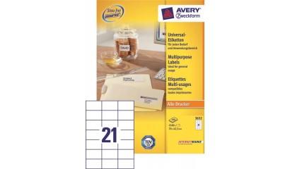 Etykiety samop. ZF Avery 70x42.3 (100ark.) 3652