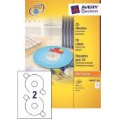 Etykiety samoprzylepne ZF Avery CD śr117mm (100ark.) L6043-100