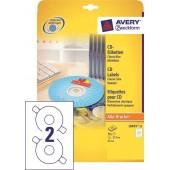 Etykiety samoprzylepne ZF Avery CD śr117+kółko (25ark.) L6015-25