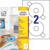 Etykiety na płyty CD Avery Zweckform; A4, 25 ark./op., ø117 mm, białe