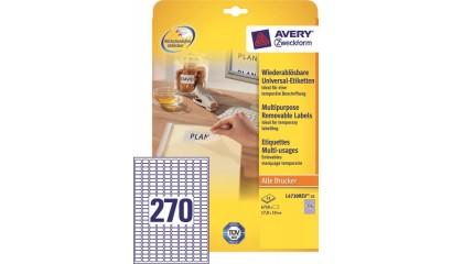 Etykiety samop. ZF Avery 17.8x10 (25ark.) Stick&Lift L4730REV-25