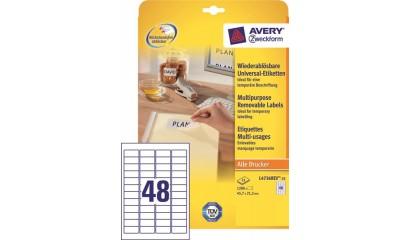 Etykiety samop. ZF Avery 45.7x21.2 (25ark.) Stick&Lift L4736REV-25