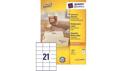 Etykiety samop. ZF Avery 70x41 (100ark.) 3481