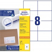 Trwałe etykiety uniwersalne Avery Zweckform; A4, 100 ark./op., 105 x 74 mm, białe