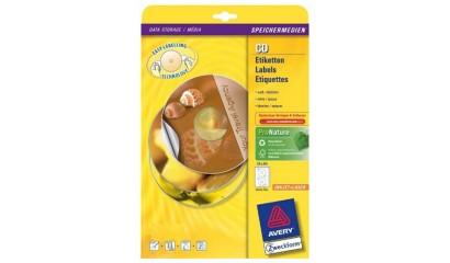 Etykiety samop. ZF Avery CD śr117 białe błyszczące (25ark.) L9660-25