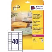 Etykiety przeźroczyste samop. ZF Avery 45.7x25.4 (25ark.) druk.laserowa L4770-25