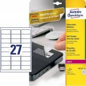 Etykieta samoprzylepne ZF Avery 63.5x29.6 (20ark.) plomby L6114-20