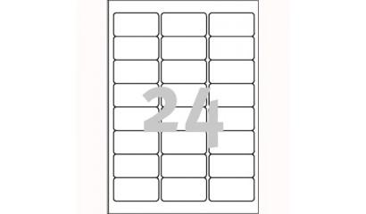 Etykiety samop. ZF Avery 63.5x33.9 (20ark.) TripleBand L6141-20
