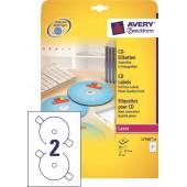 Etykiety samoprzylepne ZF Avery CD śr117 białe błyszczące (25ark.) L7760-25