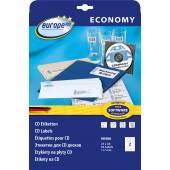 Etykiety uniwersalne Economy Europe100 by Avery Zweckform; A4, 25 ark./op., ᴓ 117mm, białe