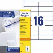 Trwałe etykiety uniwersalne Avery Zweckform; A4, 100 ark./op., 105 x 33,8 mm, białe