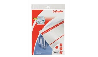 Etykiety grzbietowe do segregatorów ESSELTE 50mm do sam.druku (10szt) 20821