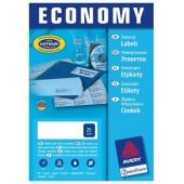 Etykiety samoprzylepne E100 Economy ZF Avery 105x74 (100ark) EC9158 / ELA023