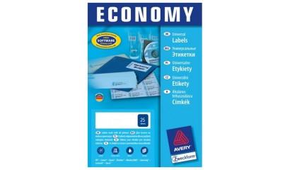 Etykiety samop. E100 Economy ZF Avery 64.6x33.8 (100ark.) ELA008