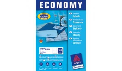Etykiety samop. E100 Economy ZF Avery 70x42.3 (100ark.) ELA013