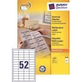 Etykiety samoprzylepne ZF Avery 48x21 (100ark.) 3650
