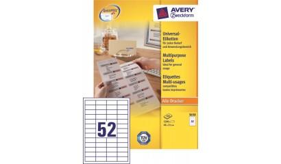 Etykiety samop. ZF Avery 48x21 (100ark.) 3650