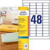 Etykiety adresowe przezroczyste Avery Zweckform; A4, 25 ark./op., 45,7 x 21,2 mm