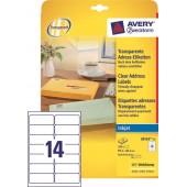 Etykiety przeźroczyste samop. ZF Avery 99.1x38.1 (25ark.) druk.atramentowa J8563-25