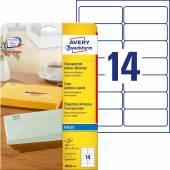 Etykiety adresowe przezroczyste Avery Zweckform; A4, 25 ark./op., 99,1 x 38,1 mm