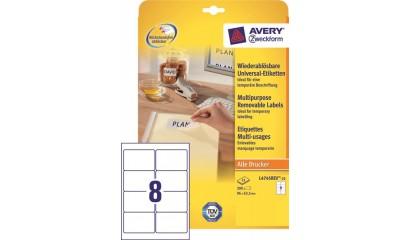 Etykiety samop. ZF Avery 96x63.5 (25ark.) Stick&Lift L4745REV-25