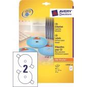 Etykiety samoprzylepne ZF Avery CD śr117 białe (25ark.) L7676-25