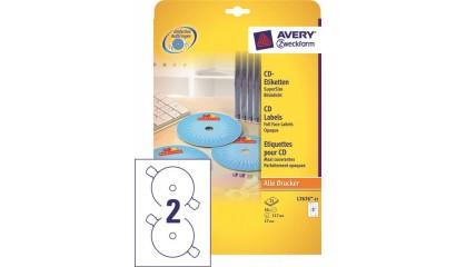 Etykiety samop. ZF Avery CD śr117 białe (25ark.) L7676-25