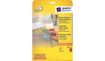Etykiety samop. ZF Avery 25.4x10 mini zaok. (20ark.) żółte L6037-20