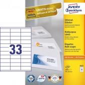 Etykiety samoprzylepne ZF Avery 70*25.4 (100ark.) 3421