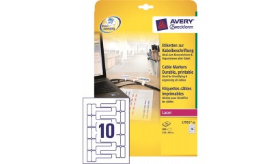 Etykiety samop. ZF Avery 110x49 (10ark./200etykiet) do oznaczania kabli L7951-20