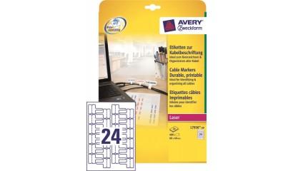 Etykiety samop. ZF Avery 60x40 (24ark./480etykiet) do oznaczania kabli L7950-20