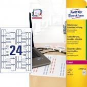 Etykiety do oznaczania kabli Avery Zweckform; A4, 20 ark/op., 60 x 40 mm, białe