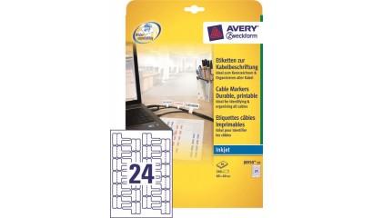 Etykiety samop. ZF Avery 60x40 (10ark./240etykiet) do oznaczania kabli J8950-10