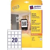 Etykiety kryjące samop. ZF Avery 45x45 (25ark./500etykiet) do kodów QR L7121-25