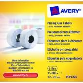 Etykiety cenowe w rolce ZF Avery 26x12 białe,trwałe (15000) PLP1226
