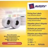 Etykiety cenowe w rolce ZF Avery 26x16 białe,trwałe (12000) PLP1626