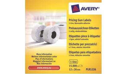 Etykiety cenowe w rolce ZF Avery 26x12 białe,usuwalne (15000) PLR1226