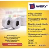 Etykiety cenowe w rolce ZF Avery 26x16 białe,usuwalne (12000) PLR1626