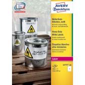 Etykiety Heavy Duty Avery Zweckform; A4, 100 ark./op., 210 x 297 mm, białe, poliestrowe