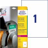 Etykiety polietylenowe ultra resistant Avery Zweckform, A4, 10 ark./op., 210 x 297mm, białe