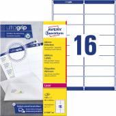 Etykiety adresowe białe Avery Zweckform; A4, 100 ark./op., 99,1 x 33,9 mm