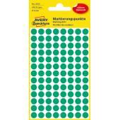 Kolorowe kółka do zaznaczania Avery Zweckform; 416 etyk./op., Ø8 mm, zielone