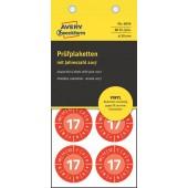 Etykiety / Tabliczki samoprzylepne ZF Avery inspekcyjne, Winylowe, czerwone, 30mm (80szt) 6936