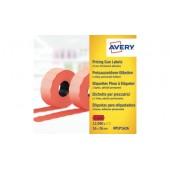 Etykiety cenowe w rolce ZF Avery 26x16 czerwone,trwałe (15000) RPLP1626
